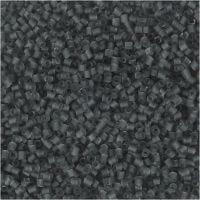 Siemenhelmet, Putki, halk. 1,7 mm, koko 15/0 , aukon koko 0,5 mm, kuulto harmaa, 25 g/ 1 pkk
