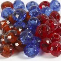 Lasilinkit, koko 9x14 mm, aukon koko 4 mm, sininen, ruskea, punainen, 36 kpl/ 1 pkk