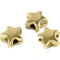 Välihelmi, koko 5,5x5,5 mm, aukon koko 1 mm, kullanvärinen, 3 kpl/ 1 pkk