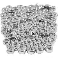 Kirjainhelmet, halk. 7 mm, aukon koko 1,2 mm, hopea, 165 g/ 1 pkk