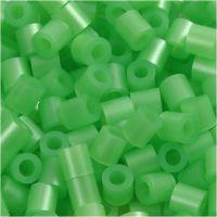 Nabbi- putkihelmet, koko 5x5 mm, aukon koko 2,5 mm, medium, helmiäsvihreä (32240), 1100 kpl/ 1 pkk