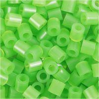 Nabbi- putkihelmet, koko 5x5 mm, aukon koko 2,5 mm, medium, vihr.neon (32237), 1100 kpl/ 1 pkk