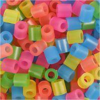 Nabbi- putkihelmet, koko 5x5 mm, aukon koko 2,5 mm, medium, neonvärit, 1100 laj/ 1 pkk