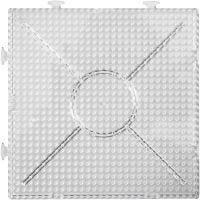 Putkihelmialusta, iso neliö, koko 15x15 cm, kuulto, 2 kpl/ 1 pkk