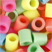 Putkihelmet, koko 10x10 mm, aukon koko 5,5 mm, JUMBO, pastellivärit, 3200 laj/ 1 pkk