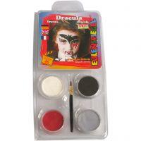 Kasvovärisetti, Dracula, värilajitelma, 1 set