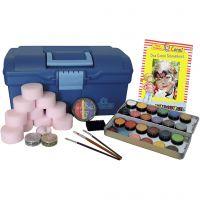 Kasvomaalaus-aloituspakkaus, värilajitelma, 1 set