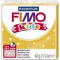 FIMO® Kids Clay , kimalle, kulta, 42 g/ 1 pkk