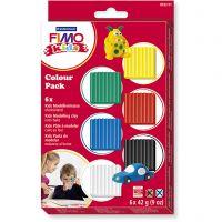 FIMO® Kids Clay , perusvärilajitelma, 6x42 g/ 1 pkk