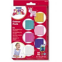 FIMO® Kids Clay , Lisävärit, 6x42 g/ 1 pkk