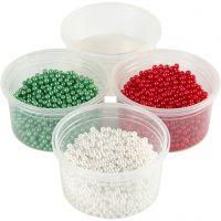 Pearl Clay®, vihreä, punainen, valkoinen, 1 set, 3x25+38 g