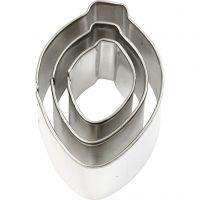 Metallimuotit, Ornamentti, koko 30x40 mm, 3 kpl/ 1 pkk