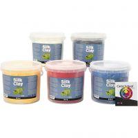 Silk Clay® silkkimassa, perusvärilajitelma, 5x650 g/ 1 pkk