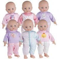 My Baby nukenvaatteet, koko 41 cm, pinkki, violetti, 6 set/ 1 pkk