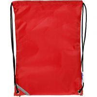 Nailonkassi, koko 31x44 cm, punainen, 1 kpl