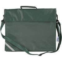 Koululaukku, syvyys 6 cm, koko 36x31 cm, vihreä, 1 kpl