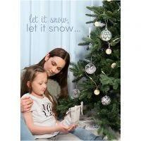Inspiraatiojulisteita, Winter Christmas, koko 21x30+29,7x42+50x70 cm, 4 kpl/ 1 pkk