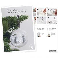 Postikortti, Joulupallo minimaisemalla, A5, 14,8x21 cm, 1 kpl