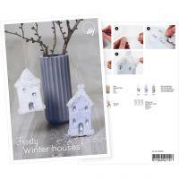 Postikortti, Lumipeitteiset talot, A5, 14,8x21 cm, 1 kpl