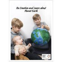 Inspiraatiojuliste, Luo ja opi maapallosta, 50x70, 29,7x42, 21x30 cm, 4 kpl/ 1 pkk