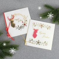 3D-porotarrat joulukorteissa