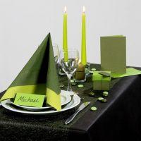 Vehreän vihreä juhlapöytä
