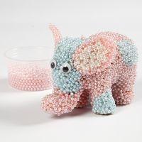 Pear Clay:lla koristeltu paperimassa elefantti