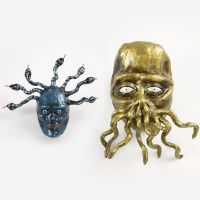 Medusa and the Tentacle Monster from Papier-Mâché, Silk Clay and Pipe Cleaners