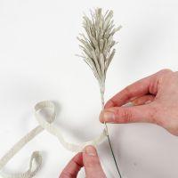 Kuinka tehdään pampas-ruohoa tai kuusen kerkkiä kreppipaperista